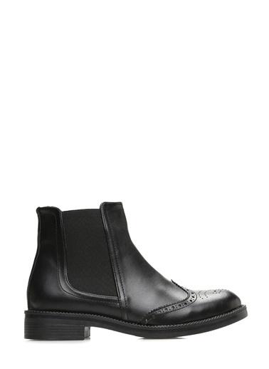 Divarese Kısa Topuklu Bot Siyah